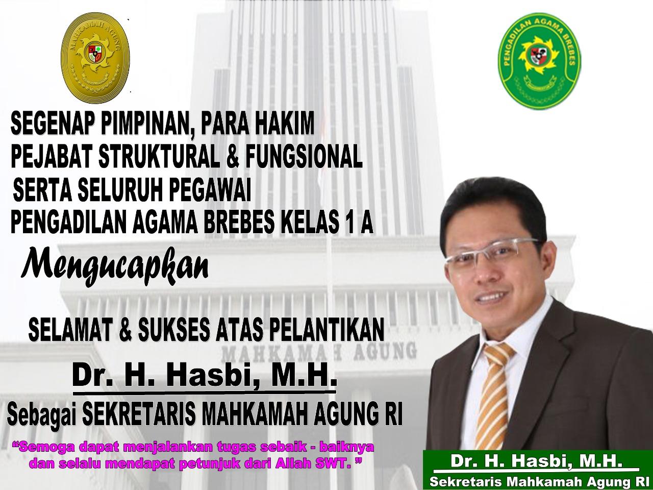 Segenap Pimpinan, Hakim dan Pegawai Pengadilan Agama Brebes Mengucapkan